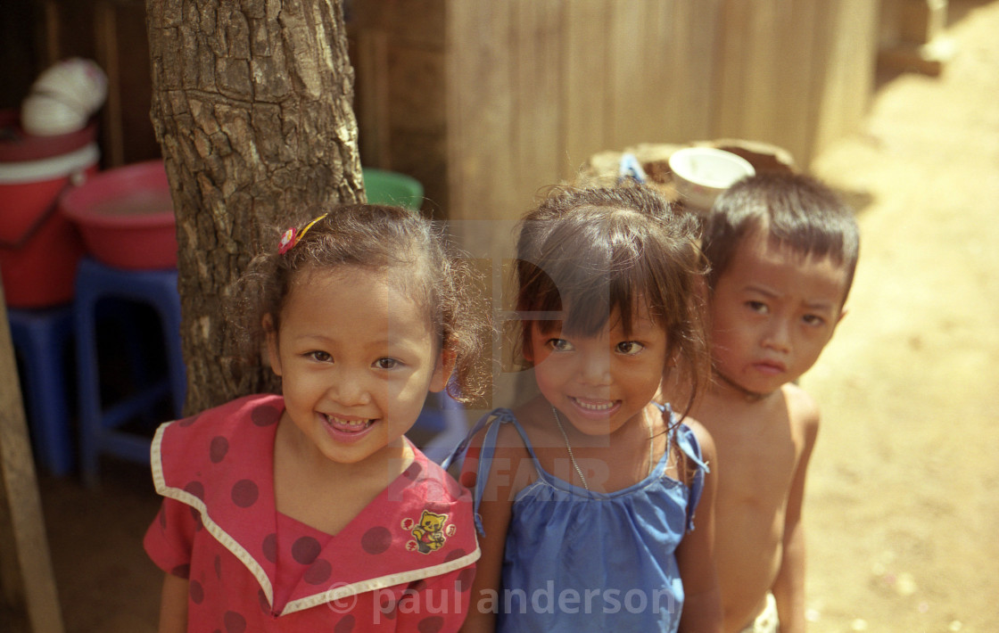 """Children in Cambodia"" stock image"